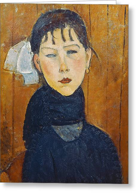 Clemente Paintings Greeting Cards - La Petite Marie Greeting Card by Amedeo Modigliani