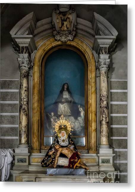 La Pieta Statue Greeting Card by Adrian Evans