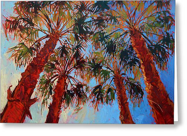 La Quinta Palms Greeting Card by Erin Hanson