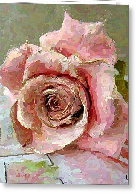 Apparel Mixed Media Greeting Cards - La Rosa Greeting Card by Riyaz Syed