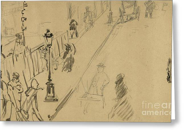 La Rue Mosnier  Greeting Card by Edouard Manet