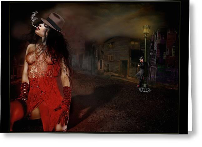 Seductress Greeting Cards - La Seductora Greeting Card by Raul Villalba