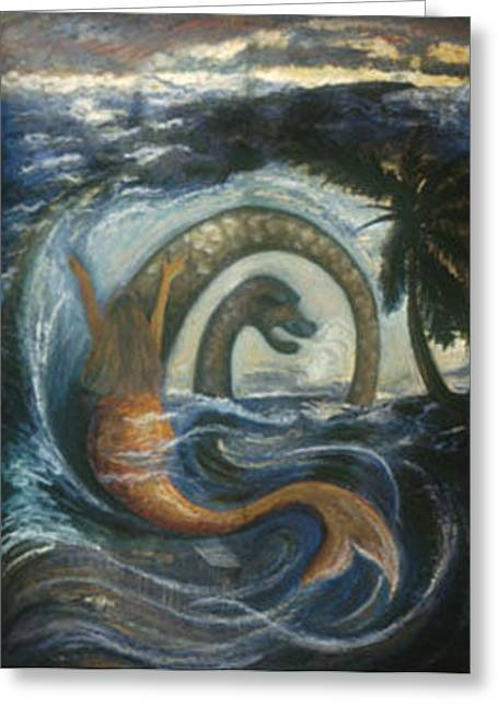 Vodou Greeting Cards - La Sirene Rabbah Greeting Card by Barbara Nesin