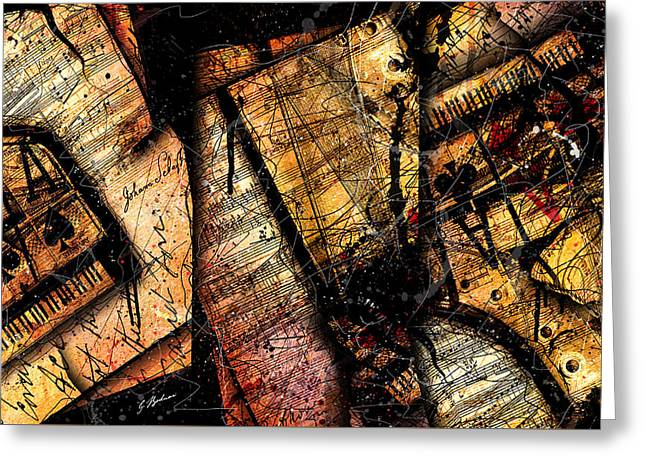 La Sonate De Ace Noir Greeting Card by Gary Bodnar