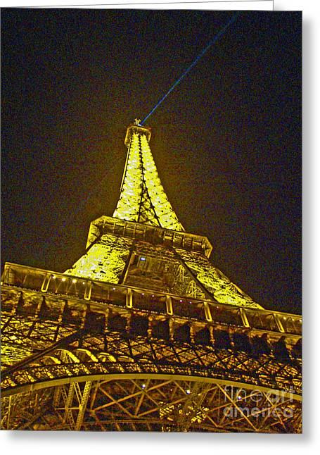 Metal Sculpture Greeting Cards - La Tour Eiffel II Greeting Card by Al Bourassa