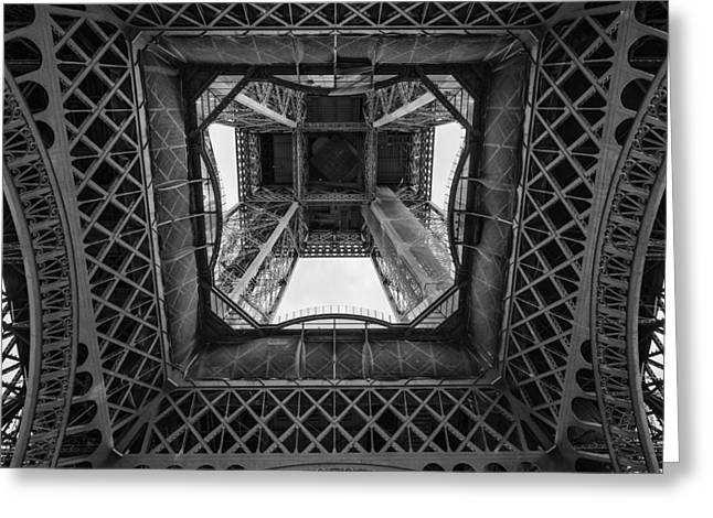 Engraving Greeting Cards - La Tour Eiffel Greeting Card by Pablo Lopez