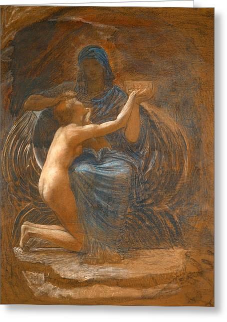 William Blake Drawings Greeting Cards - La Vierge Consolatrice Greeting Card by William Blake Richmond