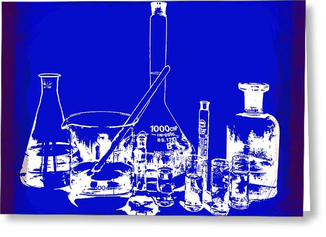 Hypothesis Greeting Cards - Lab Glass Greeting Card by Daniel Hagerman
