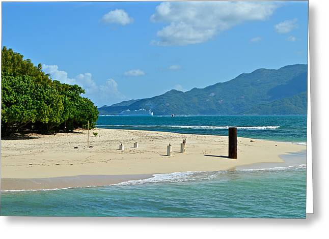 Sailing Ship Greeting Cards - Labadie or Labadee - either way its  A Haitian paradise Greeting Card by Colin Perkins