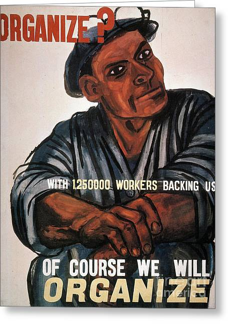 Great Depression Greeting Cards - LABOR: POSTER, 1930s Greeting Card by Granger