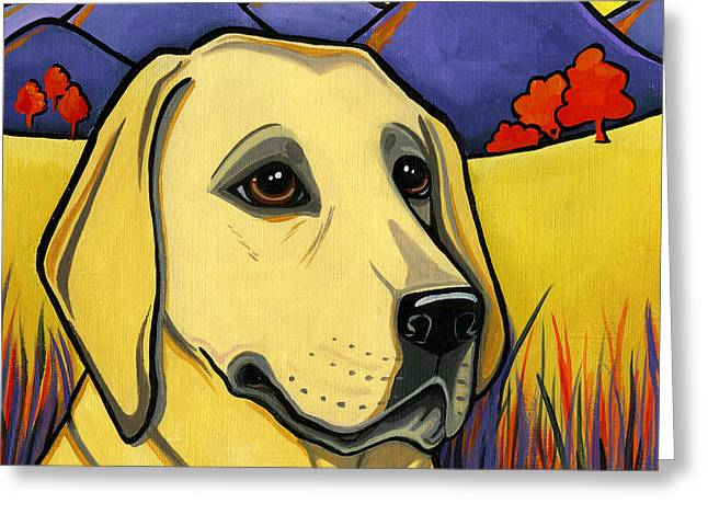 Golden Lab Greeting Cards - Labrador Greeting Card by Leanne Wilkes