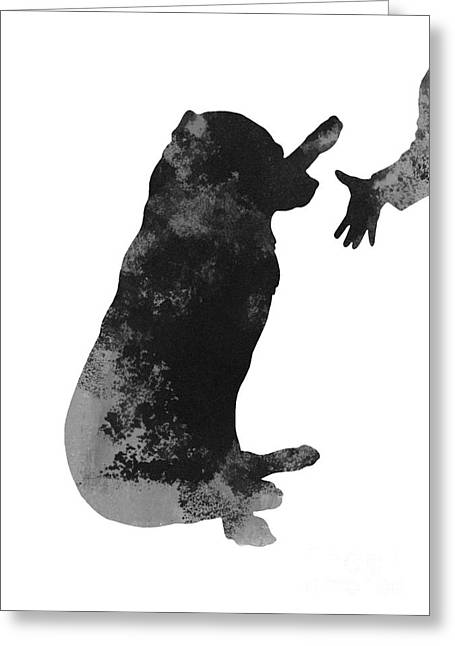 Bass Jewelry Greeting Cards - Labrador puppy kids wall decor Greeting Card by Joanna Szmerdt