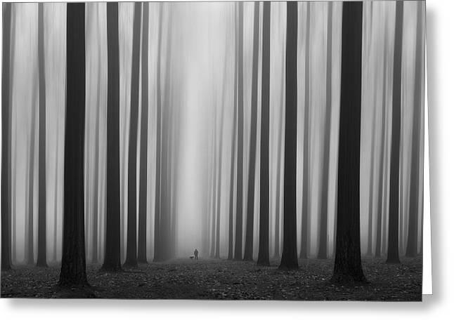 Moods Greeting Cards - Labyrinth Greeting Card by Jochen Bongaerts