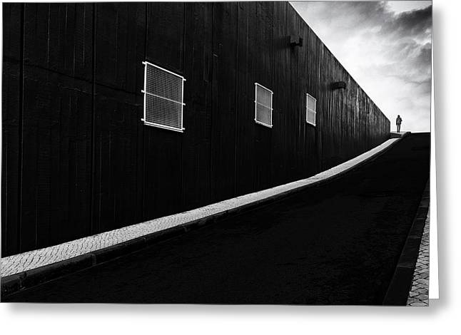 Sidewalk Greeting Cards - Labyrinth Of Air Greeting Card by Paulo Abrantes