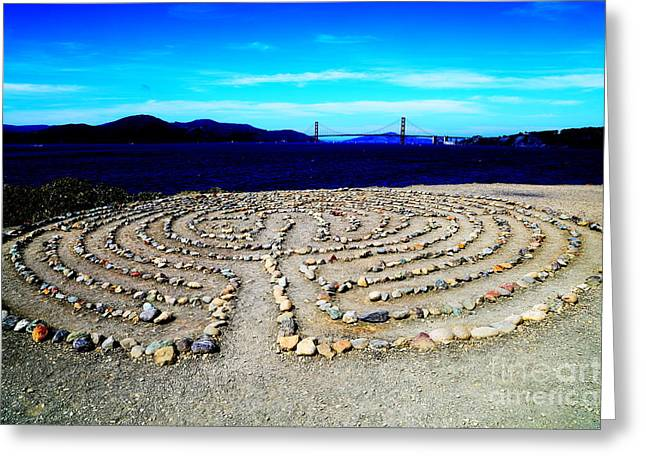 Snow Tree Prints Greeting Cards - Labyrinth Greeting Card by PlusO FineArt