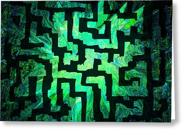 Game Greeting Cards - Labyrinth Greeting Card by Rachel Christine Nowicki
