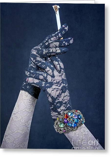 Jewellery Greeting Cards - Lace Gloves Greeting Card by Svetlana Sewell