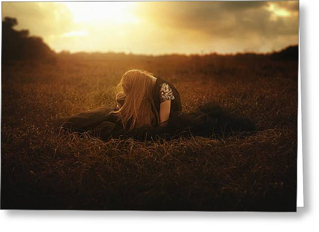 Tj Greeting Cards - Lacrimosa  Greeting Card by TJ Drysdale