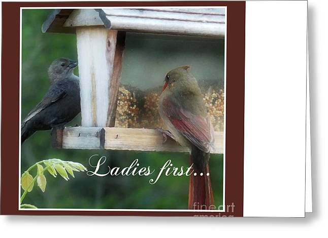 First-lady Digital Art Greeting Cards - Ladies First Greeting Card by Anita Faye