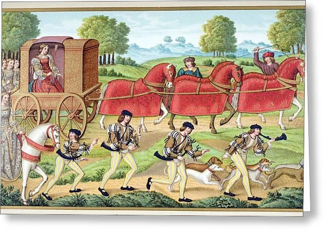 Stewards Greeting Cards - Ladies Hunting. 19th Century Greeting Card by Ken Welsh