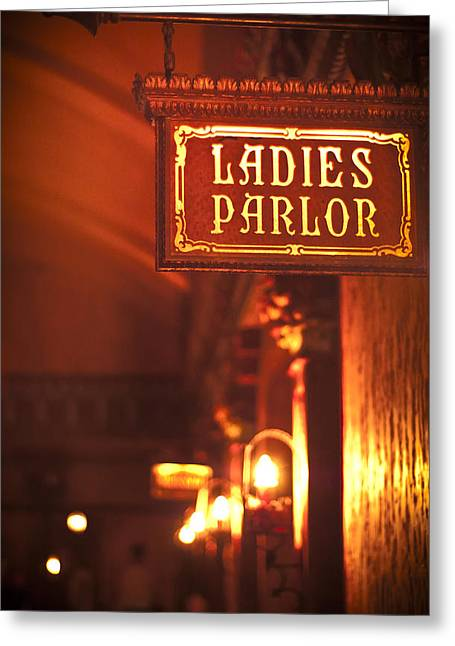 Ladies Parlor Greeting Card by Carolyn Marshall