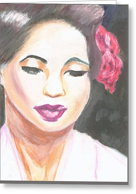 Singer Songwriter Pastels Greeting Cards - Lady Day Greeting Card by Michelle Foster