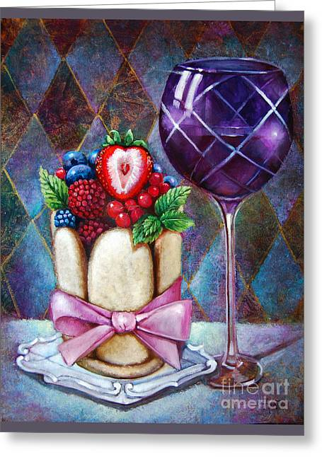 Lady Finger Tower Dessert Greeting Card by Geraldine Arata