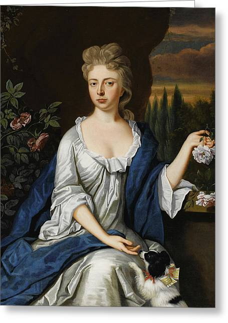 1732 Greeting Cards - Lady Hockley Greeting Card by Celestial Images