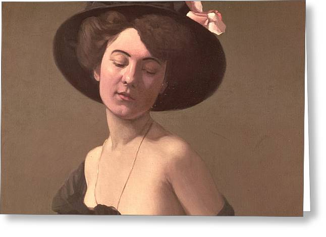Lady in a Hat Greeting Card by Felix Edouard Vallotton
