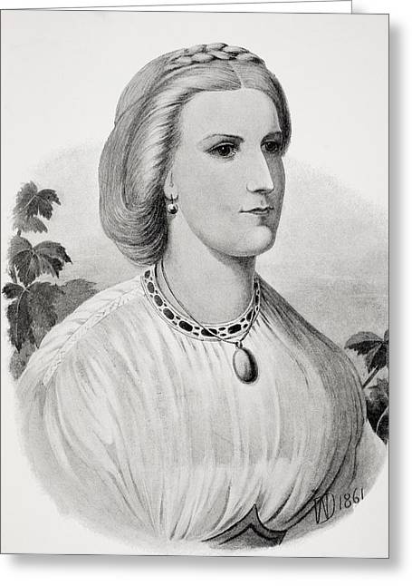 Burton Greeting Cards - Lady Isabel Burton As A Bride Greeting Card by Ken Welsh