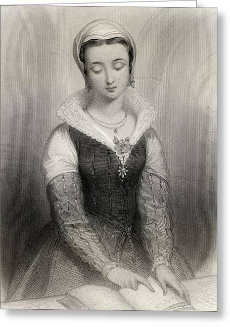 Royal Art Greeting Cards - Lady Jane Grey, Aka Lady Jane Dudley Greeting Card by Ken Welsh
