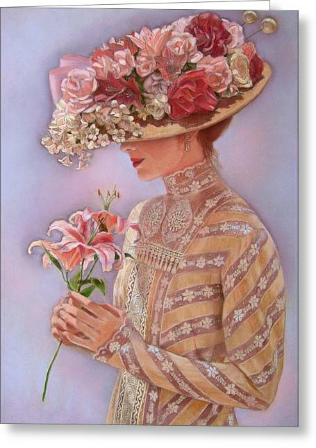 Romantic Pastels Greeting Cards - Lady Jessica Greeting Card by Sue Halstenberg