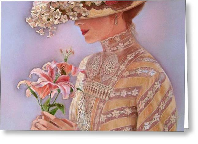 Lady Jessica Greeting Card by Sue Halstenberg