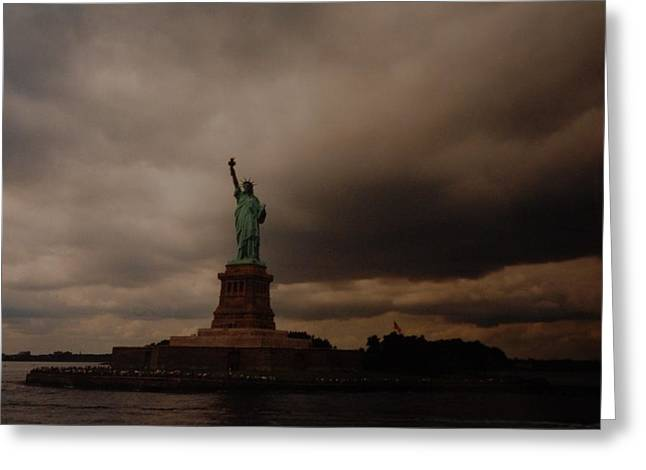 New Greeting Cards - Lady Liberty Greeting Card by Rob Hans