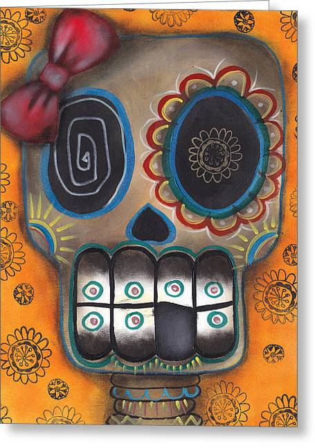 Gothic Surreal Greeting Cards - Lady Muerte Greeting Card by  Abril Andrade Griffith