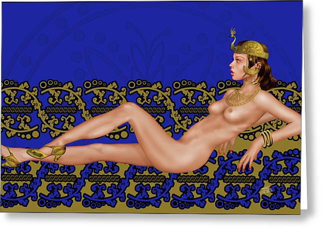 Lady Of Laniakea Greeting Card by Troy Brown