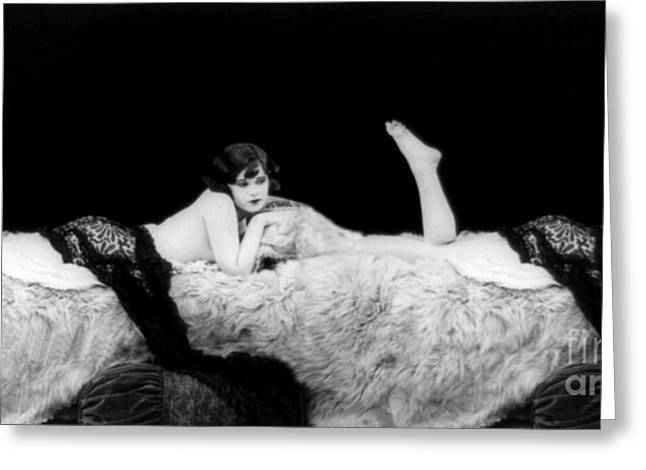 Racy Greeting Cards - Lady Of The Night, Nude Model, 1928 Greeting Card by Science Source
