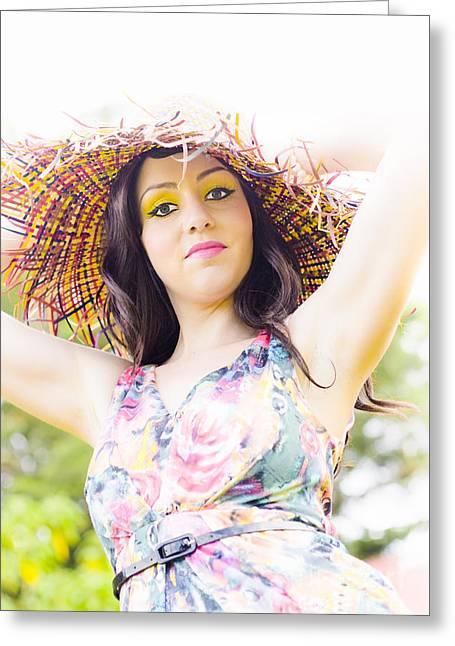 Lady Sun Shine Greeting Card by Jorgo Photography - Wall Art Gallery