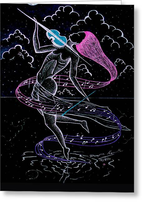 Top Seller Greeting Cards - lady Under The Silver Moon Greeting Card by Dwayne  Hamilton
