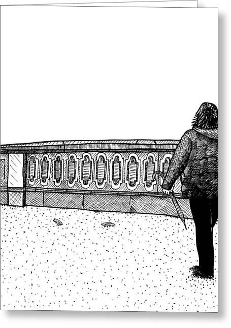 Lady Walking Greeting Card by Karl Addison