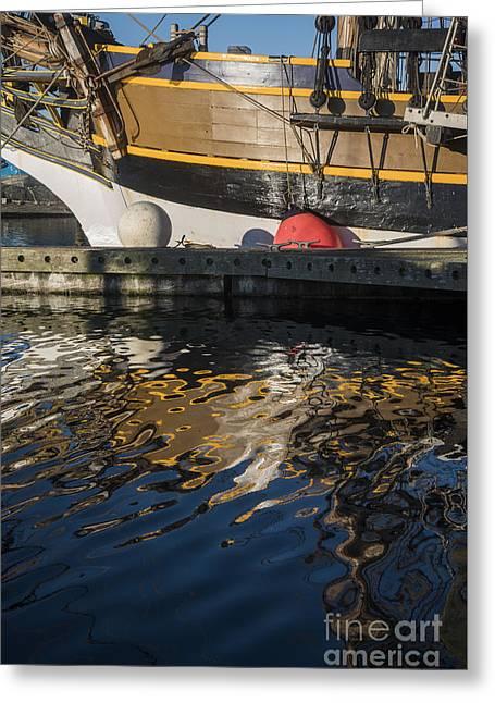 Tall Ships Greeting Cards - Lady Washington and Reflection Greeting Card by Robert Potts