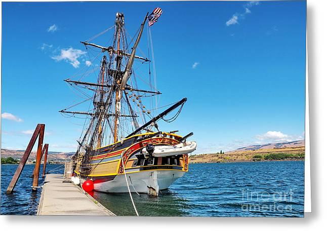 Lady Washington Greeting Cards - Tall Ship Lady Washington Greeting Card by   FLJohnson Photography