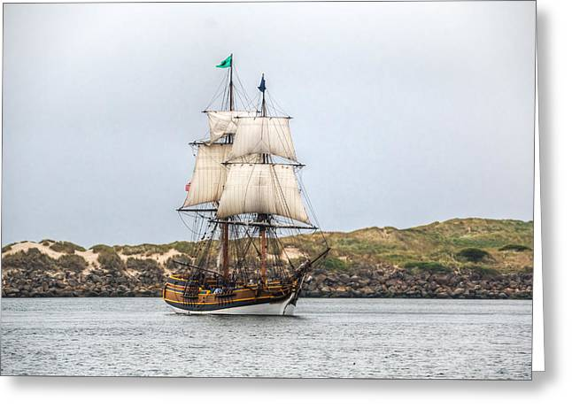 Tall Ship Greeting Cards - Lady Washington Greeting Card by Kristina Rinell