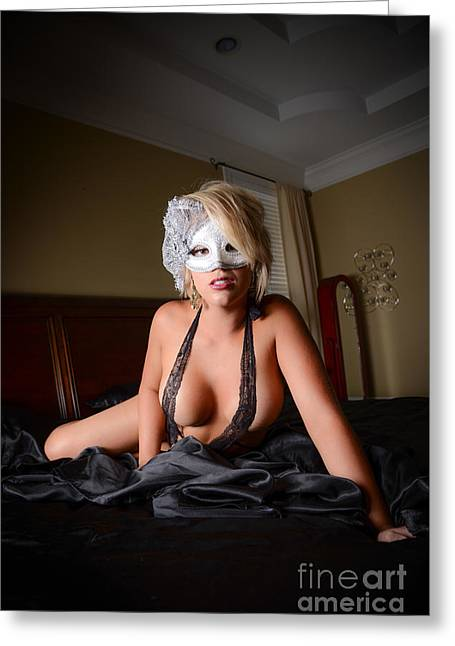 Conceal Greeting Cards - Lady with the mask 3 Greeting Card by Jt PhotoDesign