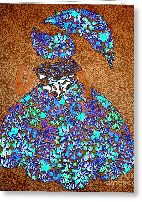 Shade Tapestries - Textiles Greeting Cards - Lady with Umbrella 2 Greeting Card by Kim Peto