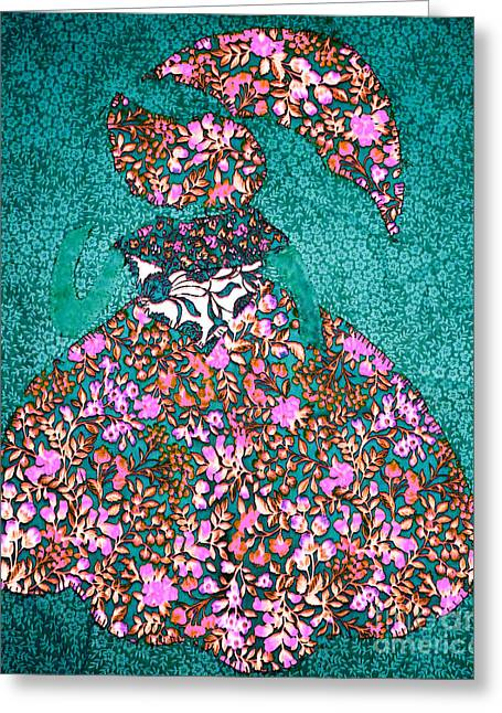 Shade Tapestries - Textiles Greeting Cards - Lady with Umbrella 3 Greeting Card by Kim Peto