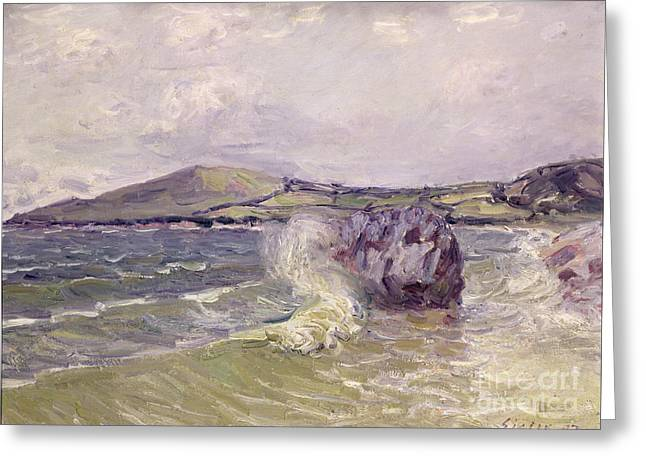 1897 Paintings Greeting Cards - Ladys Cove Wales 1897 Greeting Card by Alfred Sisley