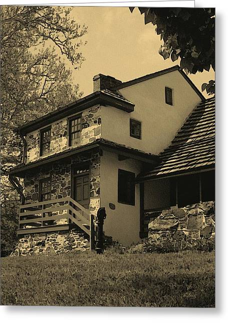 Pennsylvania Photographs Greeting Cards - Lafayettes Headquarters in Sepia Greeting Card by Gordon Beck
