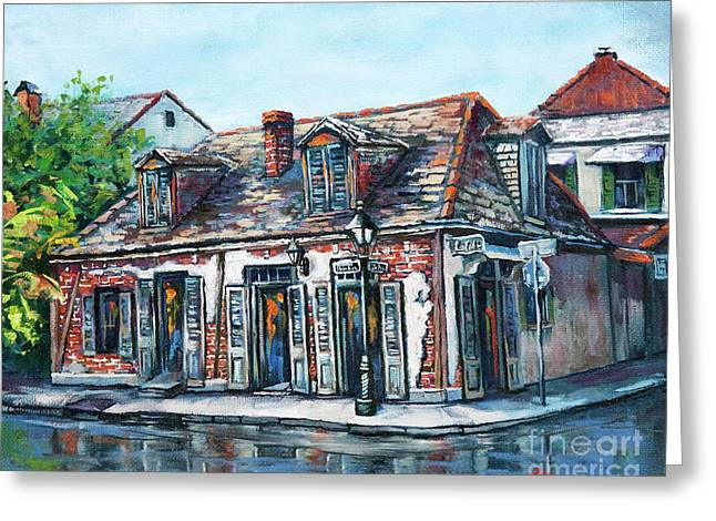 Buildings Paintings Greeting Cards - Lafittes Blacksmith Shop Greeting Card by Dianne Parks