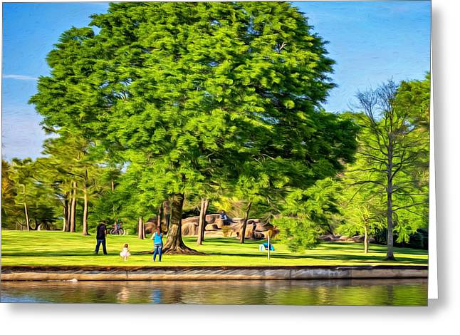Metairie Greeting Cards - Lafreniere Park 4 - Paint Greeting Card by Steve Harrington